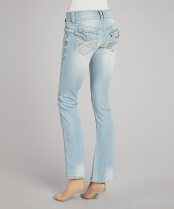 Light Blue Grace Curvy Bootcut Jeans