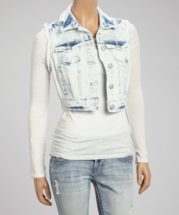 Light Blue Roxanne Denim Vest