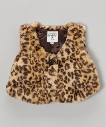 Brown Leopard Faux Fur Vest - Infant & Toddler