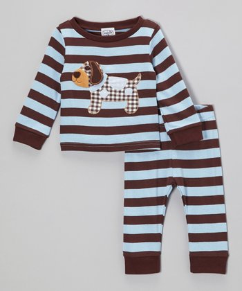 Blue & Brown Puppy Tee & Pants - Infant & Toddler