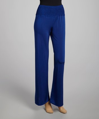 Royal Blue Smocked Palazzo Pants