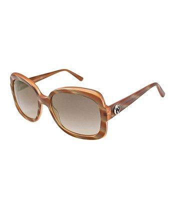 Gucci Caramel Butterfly Sunglasses