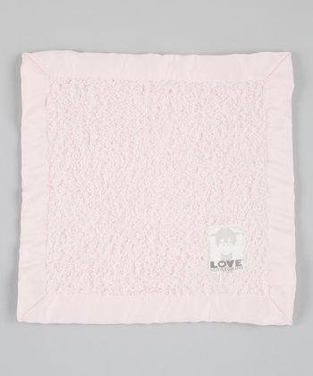 Pink Cherish Chenille Satin Security Blanket