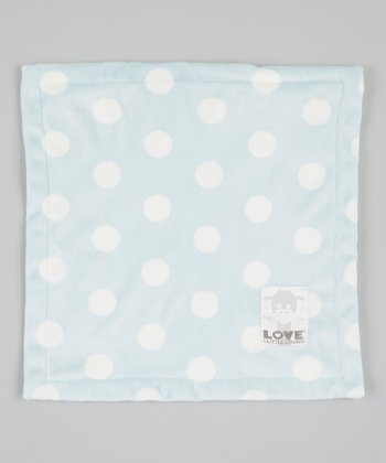 Blue Polka Dot Butter Security Blanket