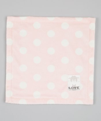 Pink Polka Dot Butter Security Blanket