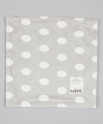 Silver Polka Dot Butter Security Blanket