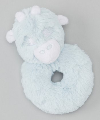 Blue Giraffe Plush Rattle