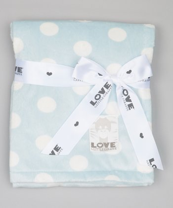 Blue Polka Dot Butter Blanket