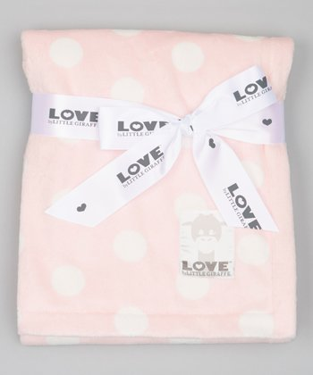Pink Polka Dot Butter Blanket