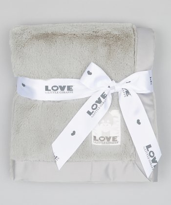 Silver Posh Satin Blanket