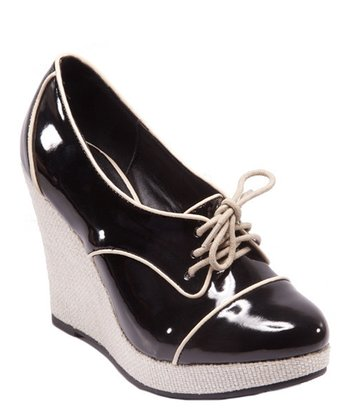 Black Carina Wedge Bootie