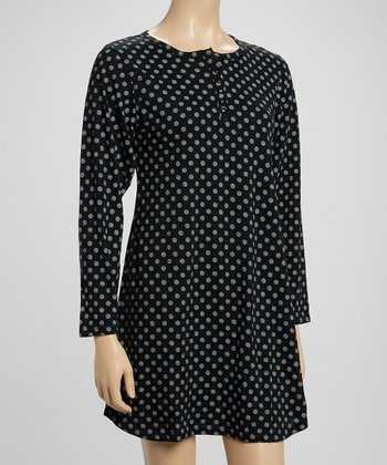 Black Polka Dot Sleepshirt