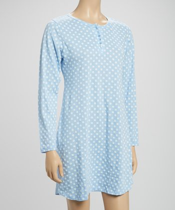 Blue Polka Dot Sleepshirt