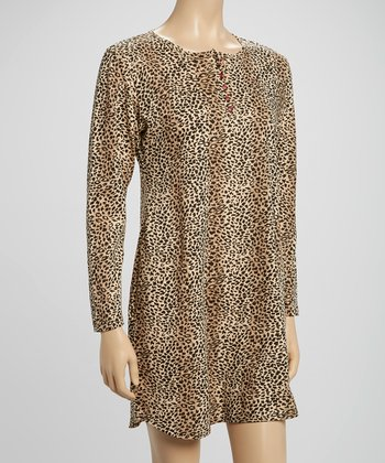 Tan Leopard Sleepshirt