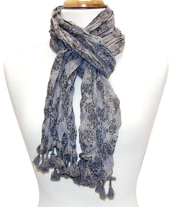 Gray Arabesque Scarf