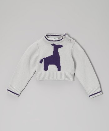Green & Purple Giraffe Organic Pullover - Infant, Toddler & Kids