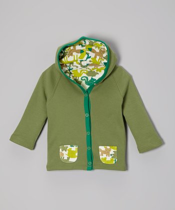 Green Zoo Critters Organic Hoodie - Infant & Toddler