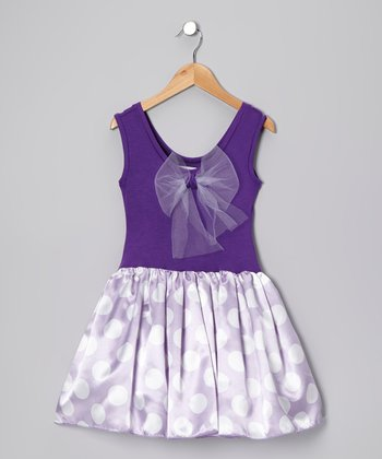 Purple & Lavender Lindsey Dress - Girls