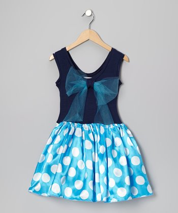 Turquoise Lindsey Dress - Girls