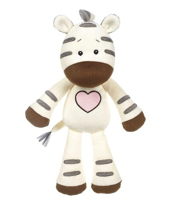 GANZ Ivory & Gray Heartland Zebra Plush Toy