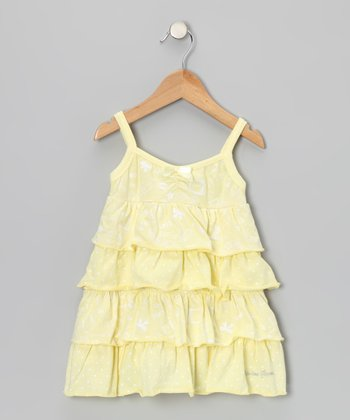 Yellow 'Fun' Tiered Ruffle Dress