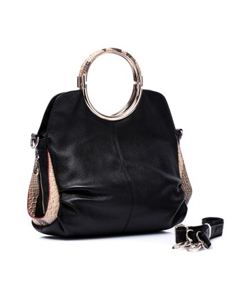 Black Anya Leather Tote