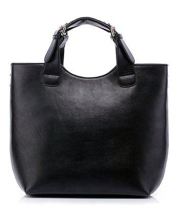 Foley & Agamo Black Lola Leather Satchel