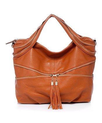 Foley & Agamo Brown Polly Leather Shoulder Bag