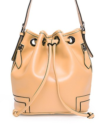 Foley & Agamo Beige Renee Leather Bucket Bag