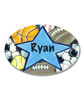All-Star Personalized Oval Wall Art