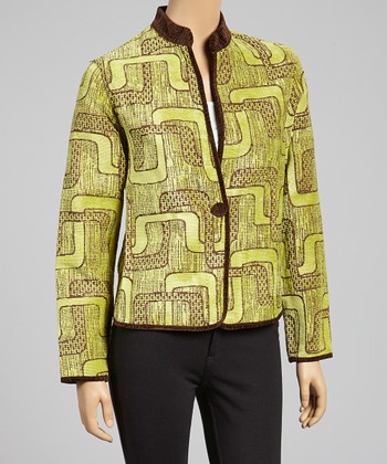 Lime Maze Reversible Jacket