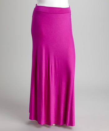 Fuchsia Maxi Skirt - Plus