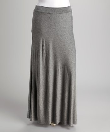 Gray Maxi Skirt - Plus