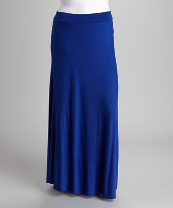 Royal Blue Maxi Skirt - Plus