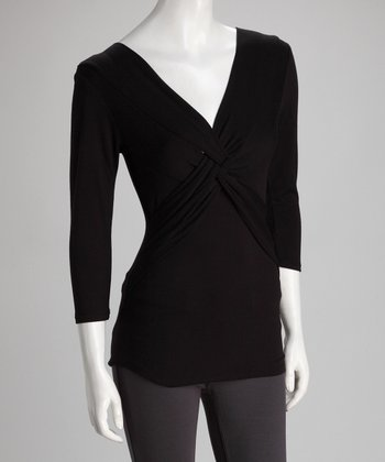 Black Twist-Front Top - Women