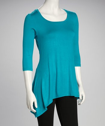 Jade Sidetail Top