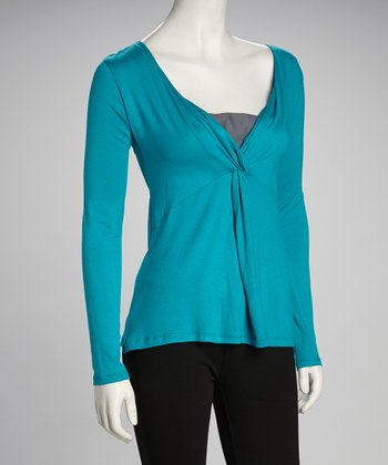 Jade Surplice Top
