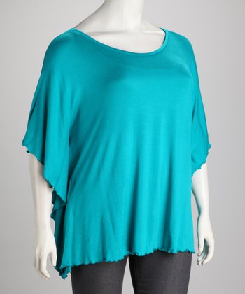 Teal Plus-Size Dolman Tunic