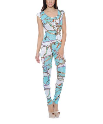 Aqua Scoop Back Jumpsuit