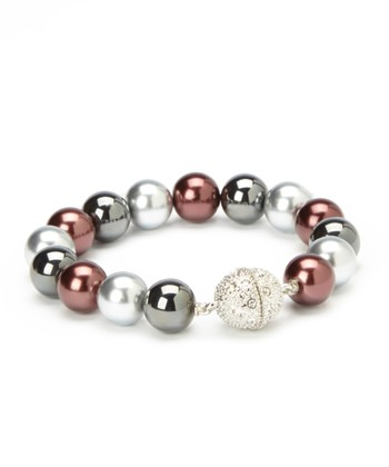 Gray Pearl Stretch Bracelet
