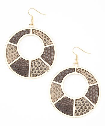 Gold Reptile Drop Earrings