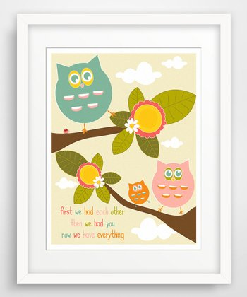 Owls 'First We Had' Giclée Print