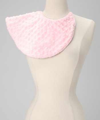 Pink Minky Dot Burp Bib - Set of Two