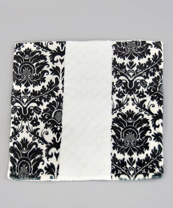 Black & White Dynasty Minky Dot Itty-Bitty Blankie