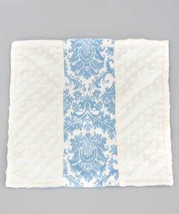 Blue Dynasty Minky Dot Itty-Bitty Blankie