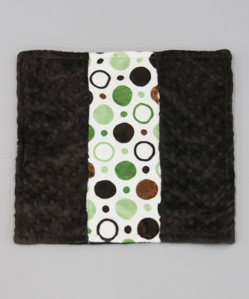 Sage Circle Minky Dot Itty-Bitty Blankie
