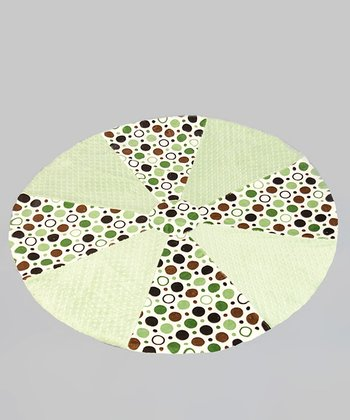Sage Circle Minky Dot Soothe-Move Mat