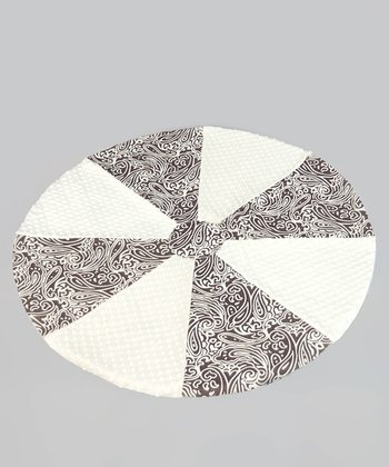 Brown Paisley Minky Dot Soothe-Move Mat