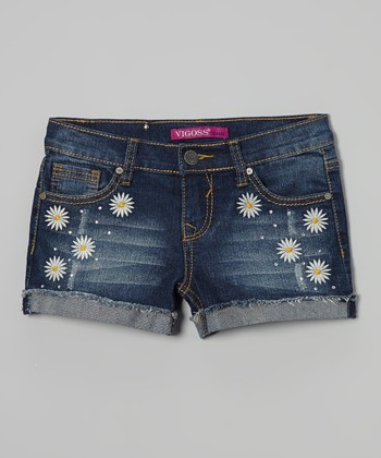 Roadster Blue Daisy Duke Denim Shorts - Girls
