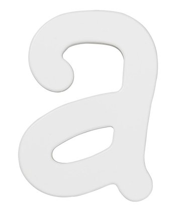 White Letter A Wall Sign
